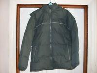 Boys padded coat with fleece body inner and hood