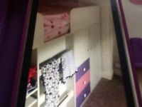 Child cabin bed. New. Not used. Complete with mattress. Not sure of make.