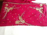 Wine Coloured Sari For Sale