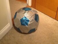 Giant inflatable football- silver and blue- perfect condition