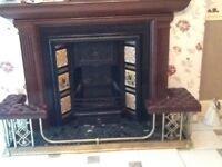 Antique Cast iron victorian fireplace insert