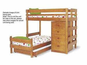 Bunk Bed King Single Size, includes under bed drawers and chest Pagewood Botany Bay Area Preview