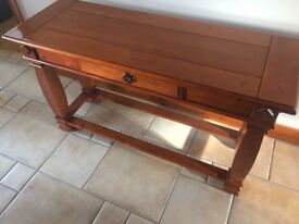 Wooden hall table/console table