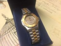 ORIGINAL TAG HEUER 3000 MID FACED GENTS MENS WATCH - GOLD PLATED & STAINLESS STEEL - JUST £575
