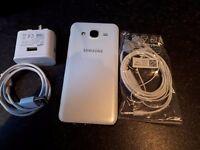 Samsung Galaxy J5 white mobile phone Tesco O2 like new