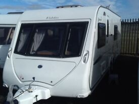 2010 elddis AVANTE 624 fixed bed 4 berth end changing room with awning