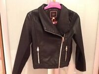 Stunning Ted Bake biker jacket - age 8/9 - brand new