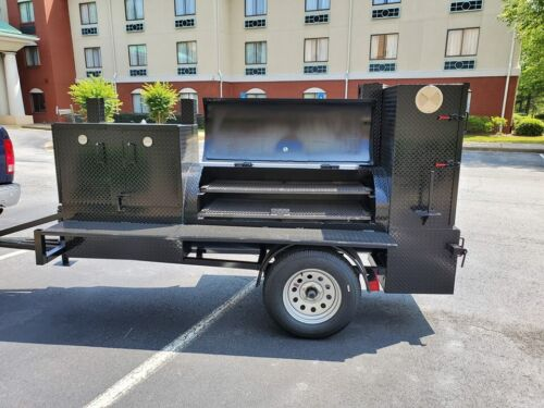Mega Pitmaster BBQ 36 Grill Smoker Trailer Catering Business Mobile Food Truck