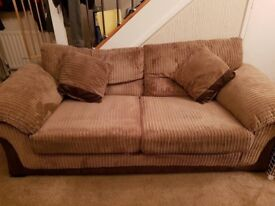 3 seater and 2 seater DFS sofa settee, 3 piece