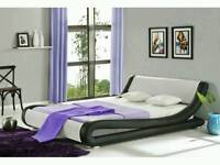 Double leather bed frame for sale