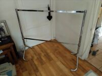 chrome sturdy retail clothes rails
