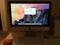 Apple iMac, i5 processor, 1TB hard drive, 8GB RAM