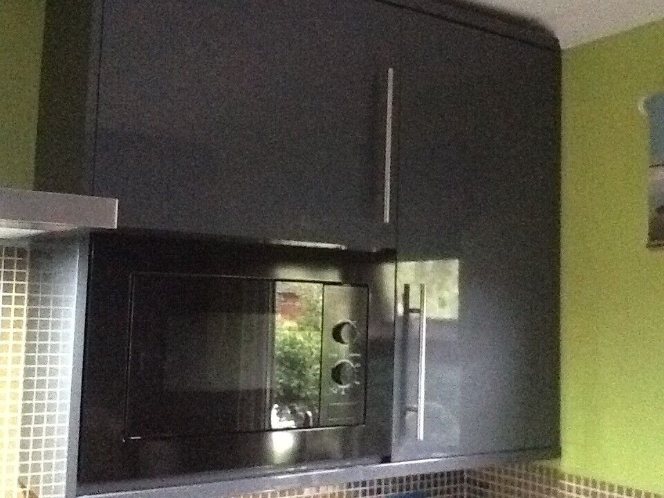 Slate Grey Gloss Kitchen Units Work Tops In Congleton Cheshire - Slate grey kitchen units