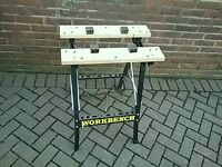 BLACK + DECKER/SIMILAR ADJUSTABLE WIDTH WORK BENCH £24.99 AS NEW