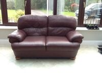 M&S leather 2 seater sofa