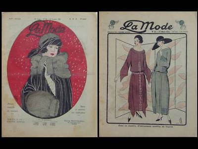 LA MODE -2 N°- 1920-1922 - FRENCH FASHION MAGAZINE -WOMAN FASHION, ART DECO