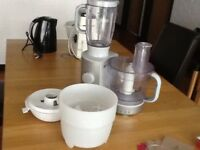 Kenwood Food Processor with attachments. About 18 years old.