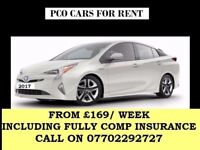 PCO CAR RENT,PCO CAR HIRE,UBER READY,TOYOTA PRIUS RENT/HIRE FROM £169/WEEK INC FULLY COMP INSURANCE.