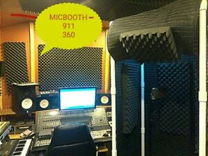 MICBOOTH-911 360 /Portable Stand-In Vocal Booth  w/ Light & w/ Rear Encloser