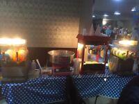 Candyfloss, Popcorn, Slush Machines Candy Kart Wheels Hire