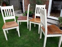 Solid wood chairs set of 4