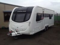2011 sterling ECCLES coral fixed bed 4 berth end changing room with fitted mover twin axel