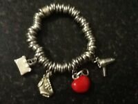 Links of London bracelet with 4 charms
