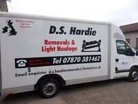 D.S.Hardie Removals & Light Haulage (man with a large luton van)