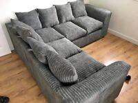 BRAND NEW LIVERPOOL JUMBO CORD CORNER OR 3+2 SEATER SOFA SET AVAILABLE IN STOCK