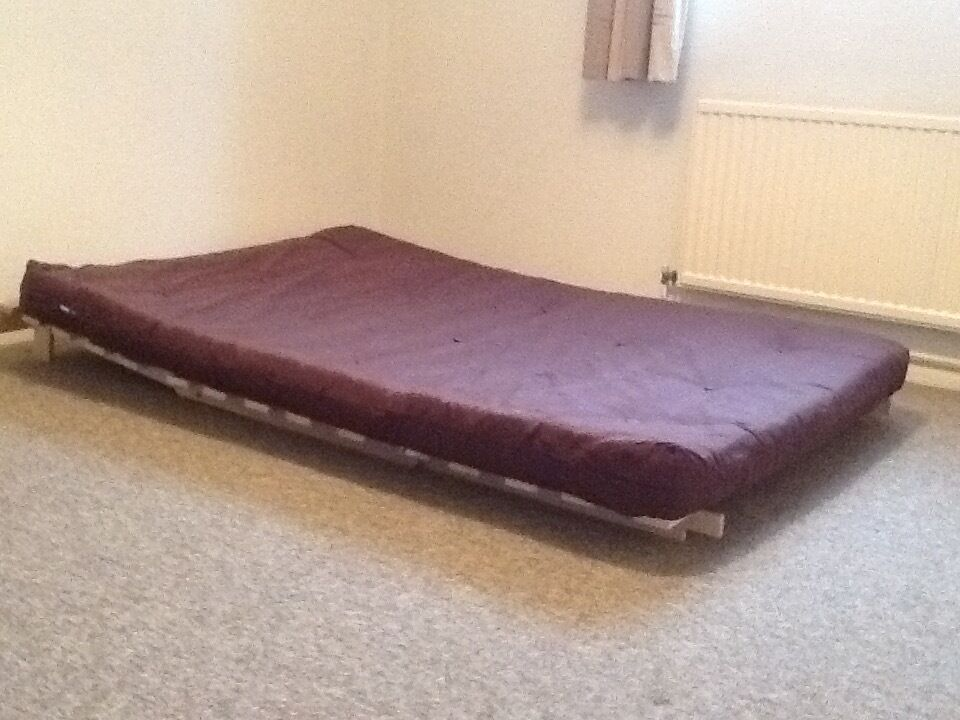 Argos Double Colourmatch Tosa Futon Chocolate Mattress And Frame Only One Year Old