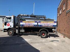 Grab lorry muck away