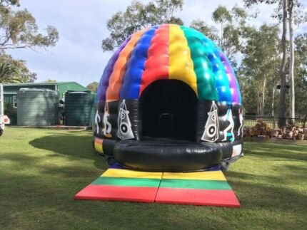Disco Dome Jumping Castle-disco lights and sound system inside
