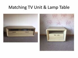 TV Unit and matching Lamp Table