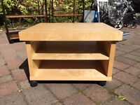 Small wooden TV stand/bedside table.