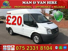 🚚CHEAP MAN & VAN HIRE📱+8 YEARS ON GUMTREE🏅HOUSE/OFFICE REMOVALS HOME MOVERS & BIKE RECOVERY🛵