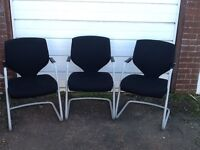 3 x Office or reception chairs