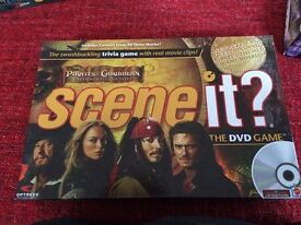 Scene it dvd and board game -Dr Who, Harry Potter and Pirates of the Caribbean *like new*