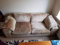 Pale gold 3-seater sofa REDUCED PRICE