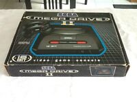 Sega megadrive 2 Boxed ,original joy pads and leads ,3 in 1 game , instruction book ,sonic poster