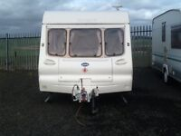 2000 Bailey ranger 510/4 berth end changing room with awning