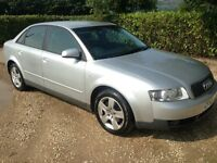 AUDI A4 1.9 TDI SE 130 BHP MANUAL DIESEL SALOON IN SILVER 2002/52 PLATE WITH 132K AND 4 MONTHS MOT