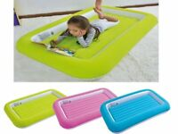 Kid's Children's Inflatable Safety Flocked Kiddy Airbed Toddlers Camping Air Beds Soft Comfortable F