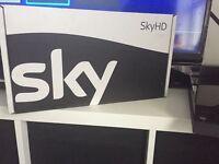 BRAND NEW Sky HD box, remote & leads etc.