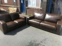 Leather 3str and 2str Sofas