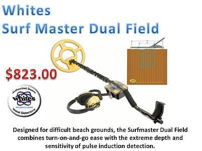 """Whites Surf Master Dual Field Metal Detector  """"Whites Best"""" Ships FREE"""