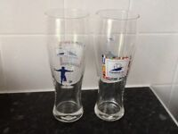 Two World Cup France 96 Pint Glasses £3