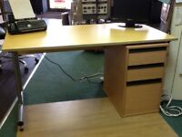 Desk with draw including one for files very good condition
