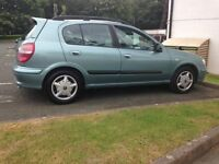 2001 Nissan Almera ONLY 61,000 miles 1 LADY OWNER 11 MONTHS M.O.T