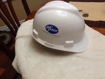Vintage Pfizer Pharmaceutical Research Development Hard Hat Helmet