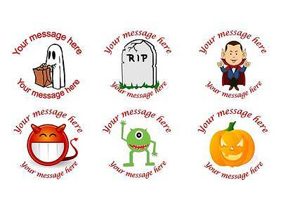105 Personalised Halloween Stickers 3for2 Gift Label Sticker Sweet bag Treat